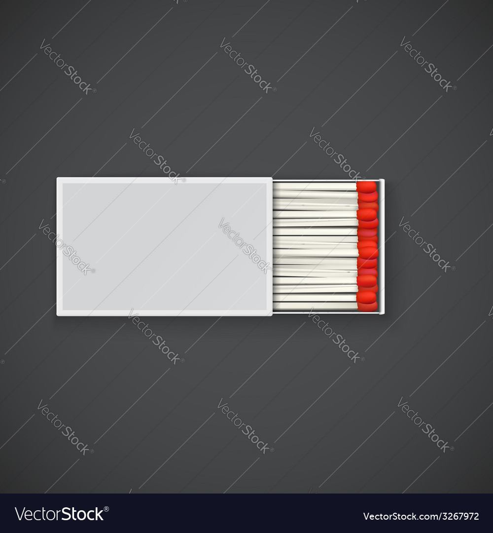Box of matches with red head vector | Price: 1 Credit (USD $1)