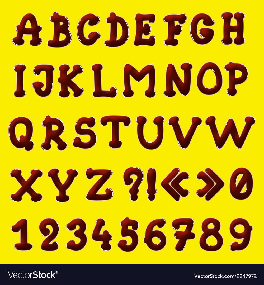 Chocolate alphabet vector | Price: 1 Credit (USD $1)
