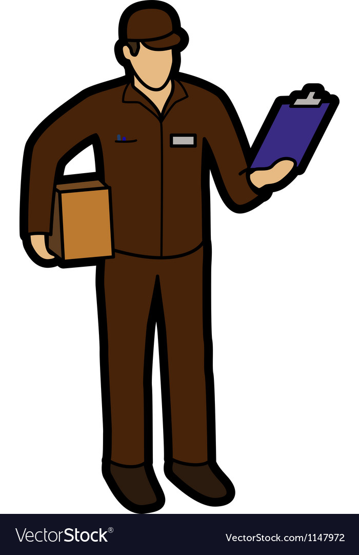 Courier man vector | Price: 1 Credit (USD $1)