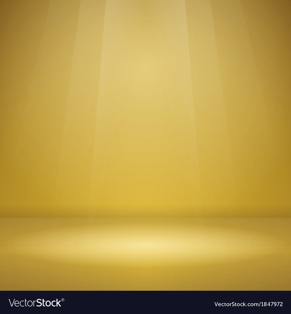 Empty yellow stage vector | Price: 1 Credit (USD $1)