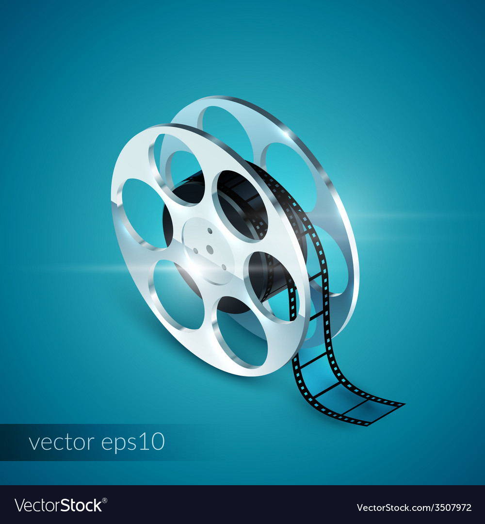 Film reel realistic vector | Price: 1 Credit (USD $1)
