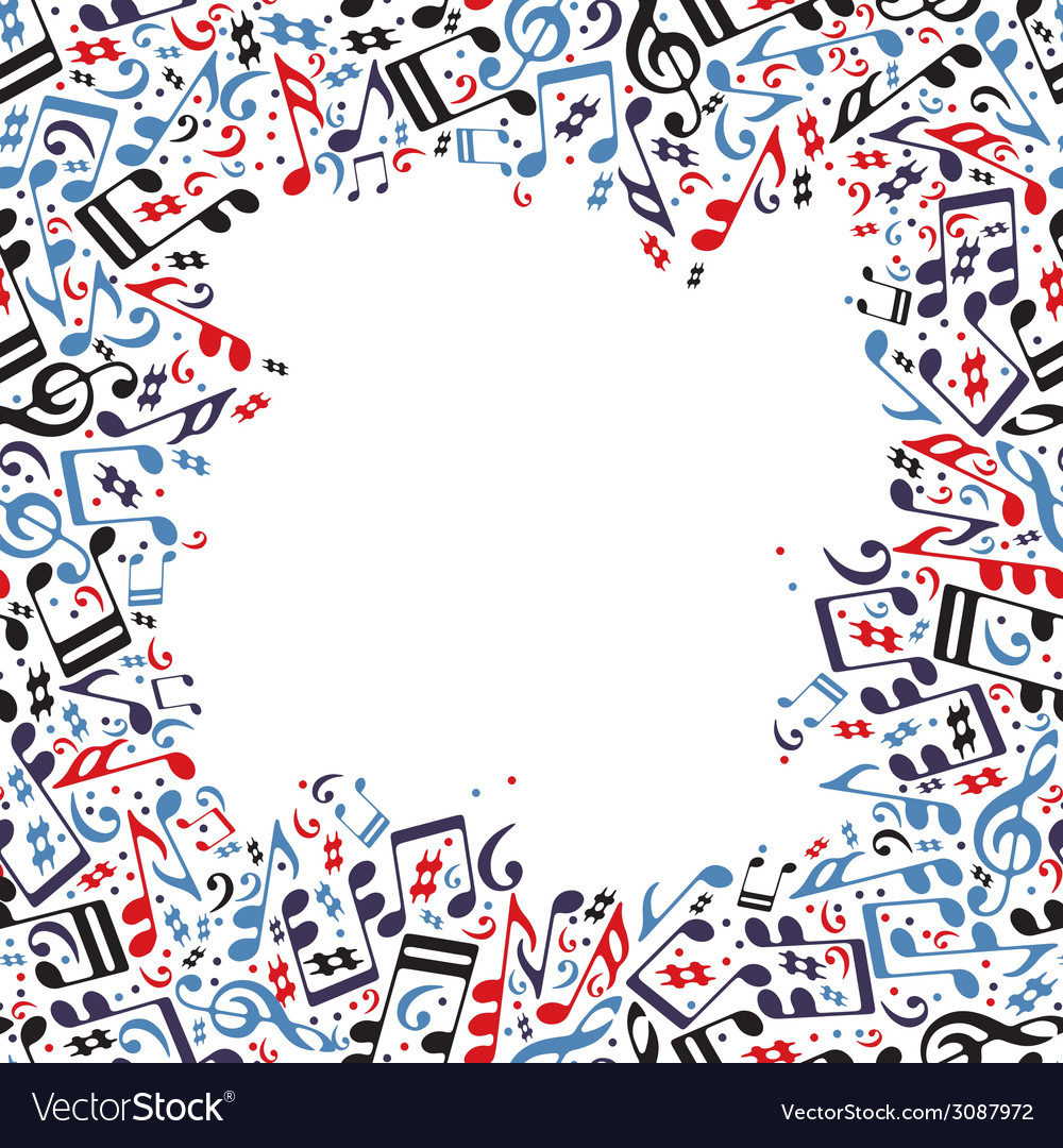 Music frame made with notes vector | Price: 1 Credit (USD $1)