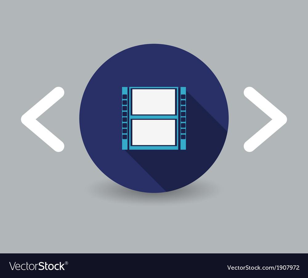 Reel of film icon vector | Price: 1 Credit (USD $1)