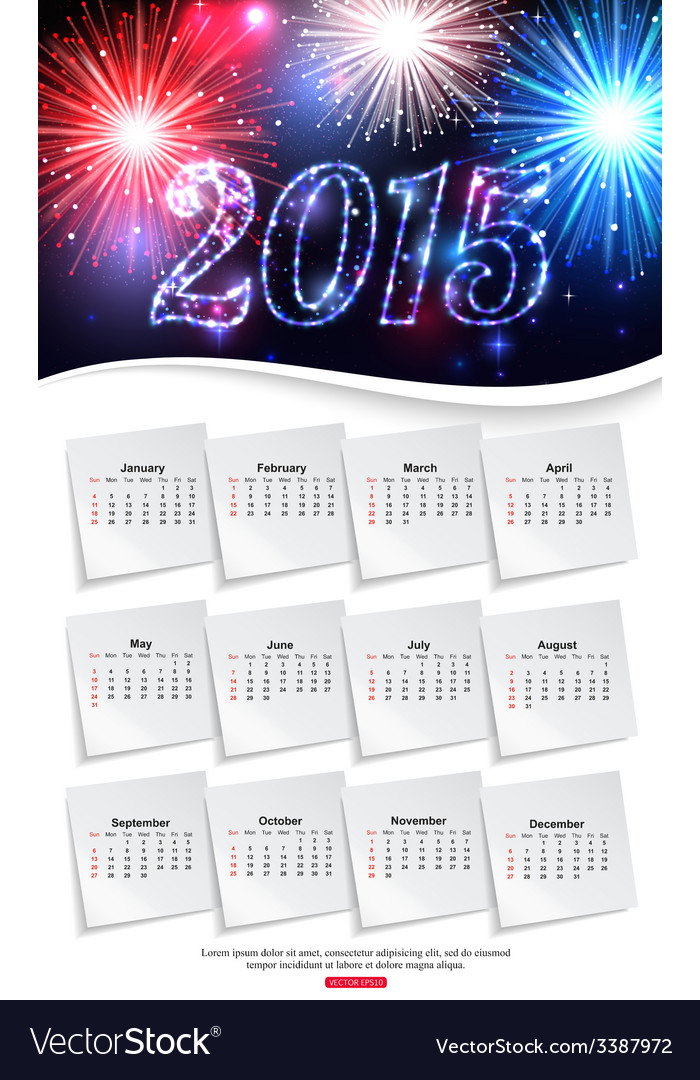 Shining calendar template brochure business design vector | Price: 1 Credit (USD $1)