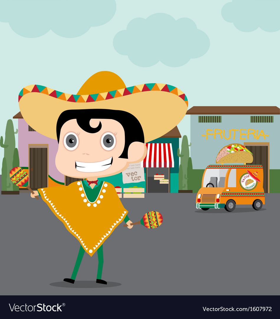 Taco man and his truck vector | Price: 1 Credit (USD $1)