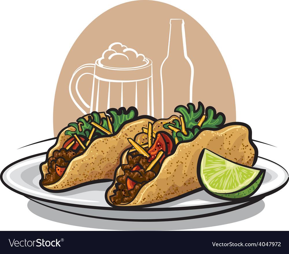 Tacos vector | Price: 1 Credit (USD $1)