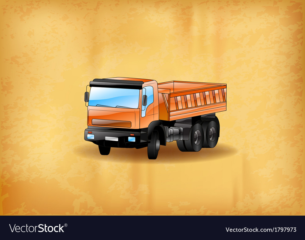 Background with truck old vector | Price: 1 Credit (USD $1)