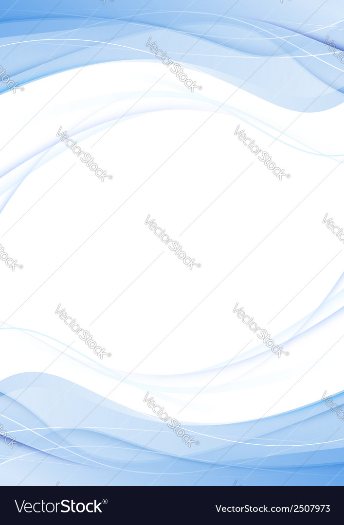 Blue swoosh abstract wave line folder concept vector | Price: 1 Credit (USD $1)
