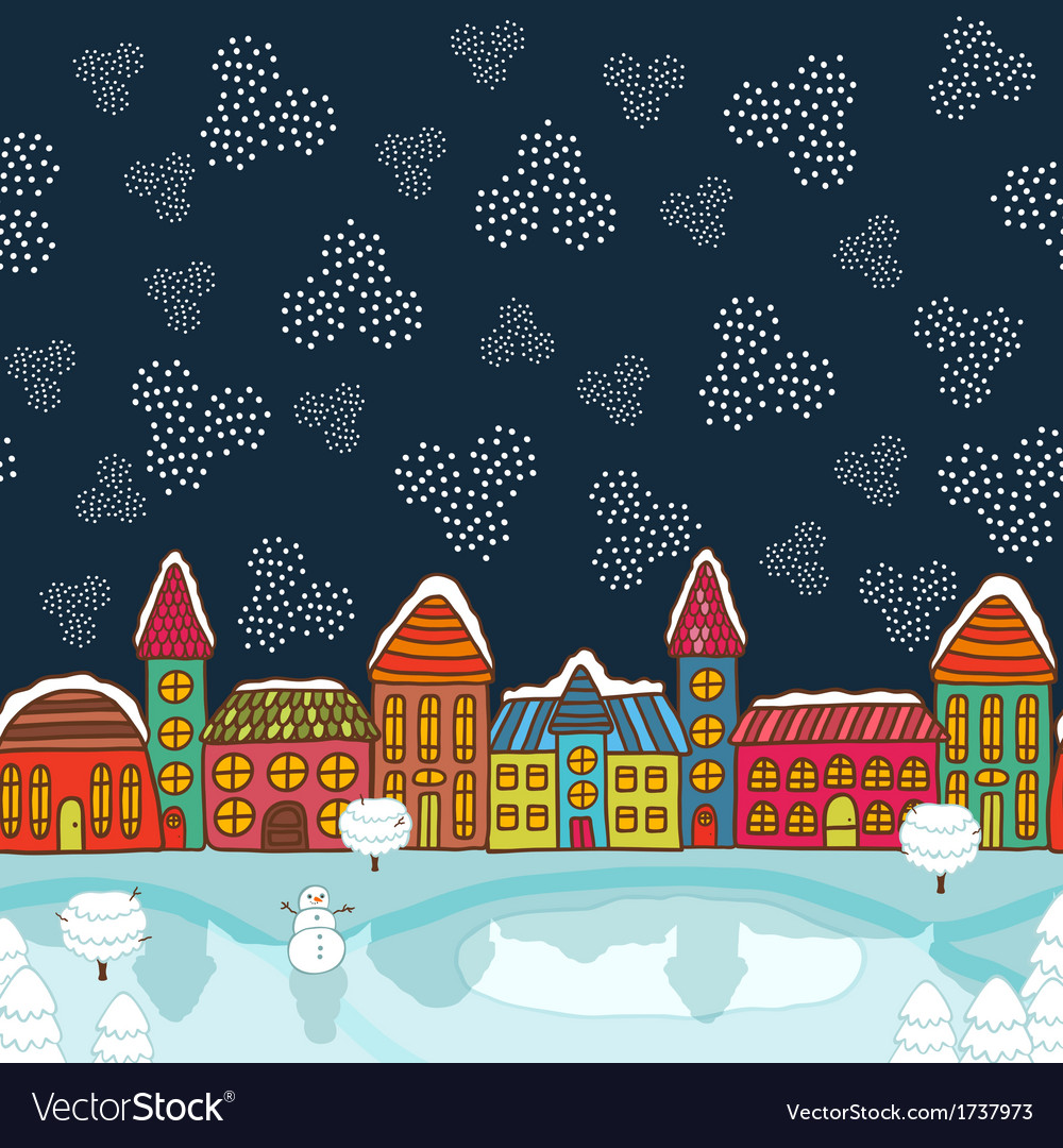 Christmas house background vector | Price: 1 Credit (USD $1)