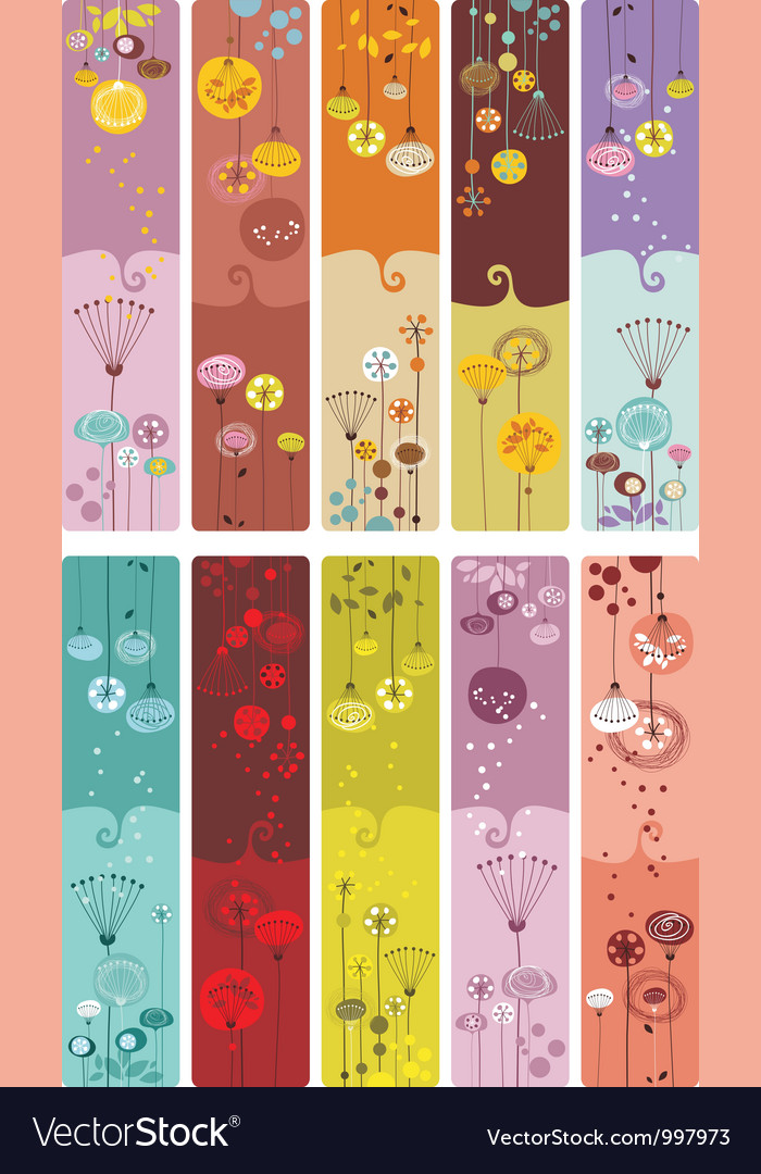 Floral bookmarks vector | Price: 3 Credit (USD $3)
