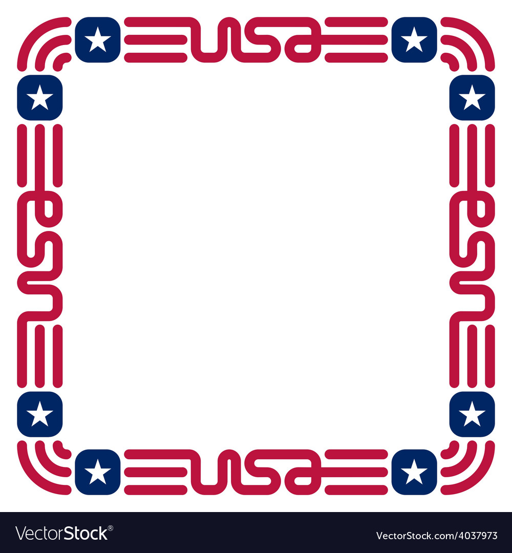 Frame with usa flag colors and symbols for vector | Price: 1 Credit (USD $1)