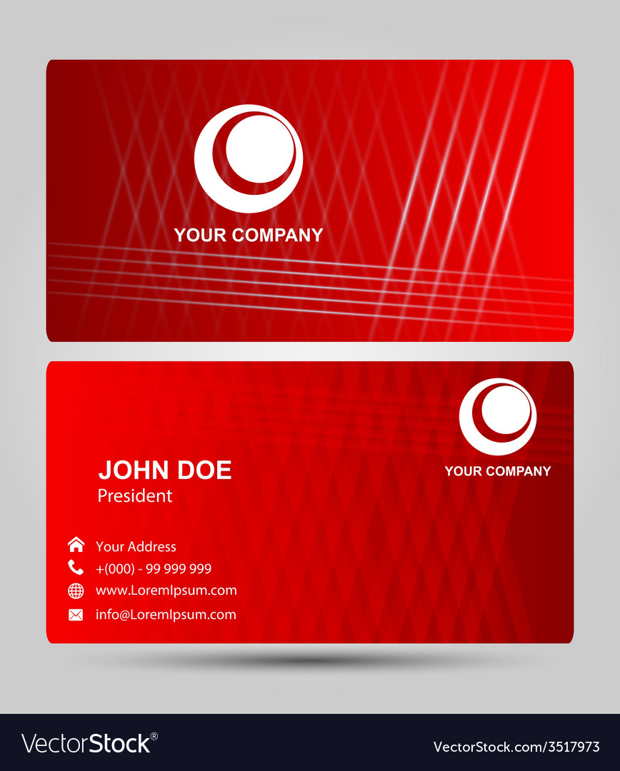 Red business card vector | Price: 1 Credit (USD $1)