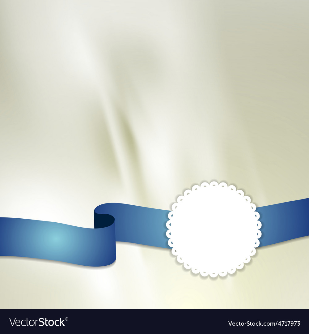 Tape and label on light silk background vector   Price: 1 Credit (USD $1)