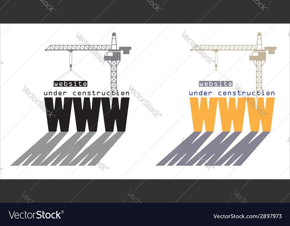 Web under construction vector | Price: 1 Credit (USD $1)