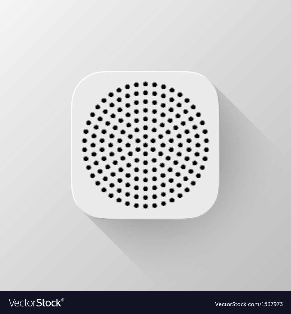 White technology app icon blank template vector | Price: 1 Credit (USD $1)