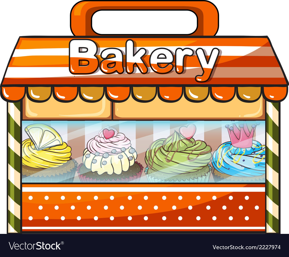 A bakery selling baked goods vector | Price: 1 Credit (USD $1)