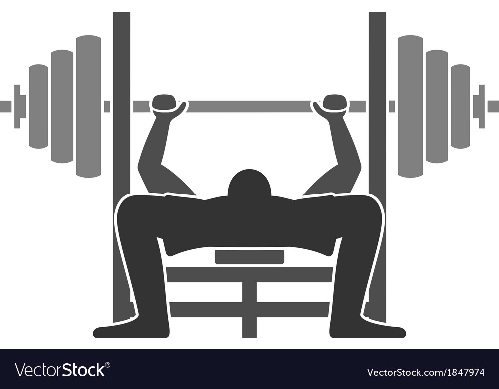 Bench press icon vector | Price: 1 Credit (USD $1)