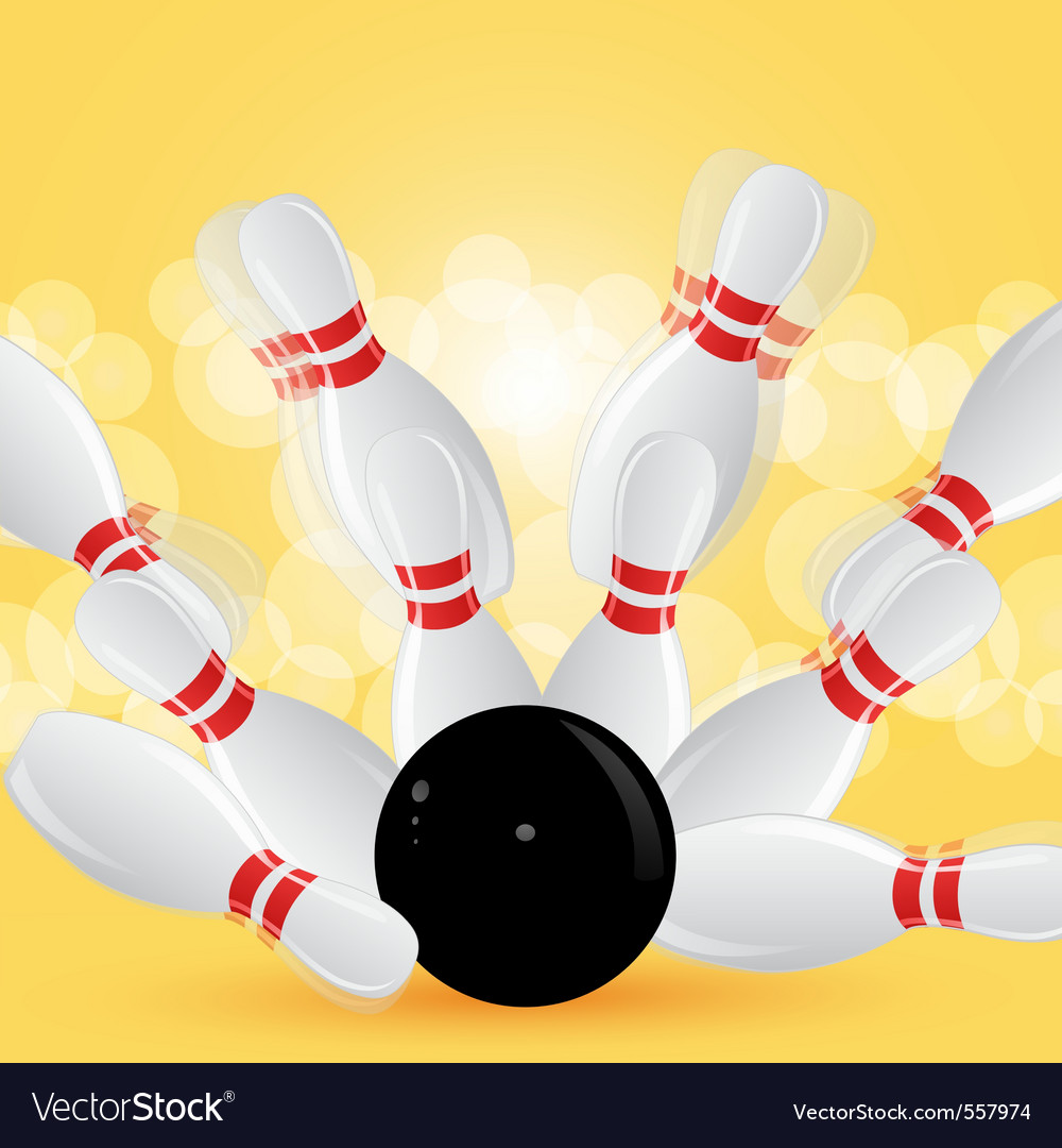 Bowling strike vector | Price: 1 Credit (USD $1)