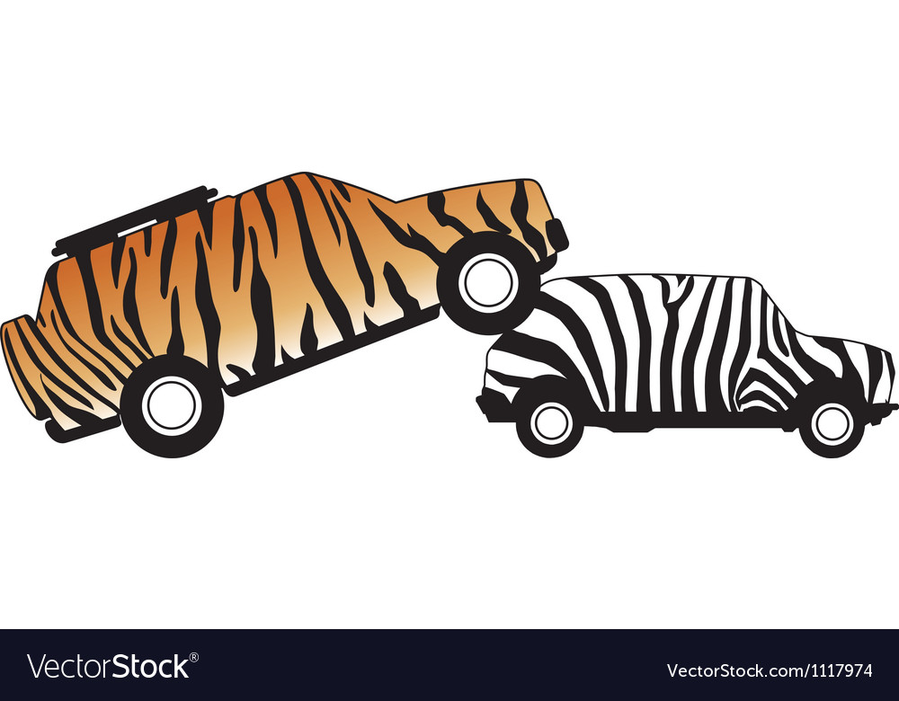 Car attacking a car vector   Price: 1 Credit (USD $1)