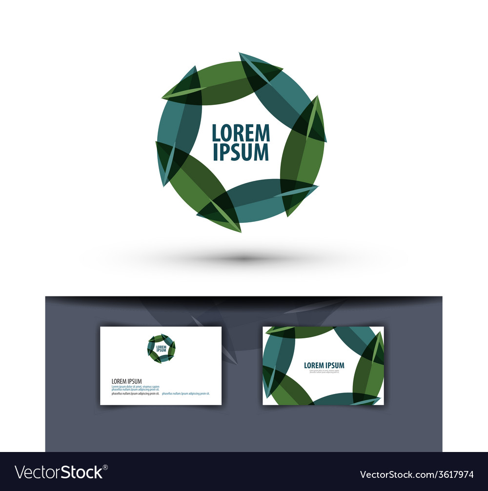 Foliage in a circle logo icon emblem template vector | Price: 1 Credit (USD $1)