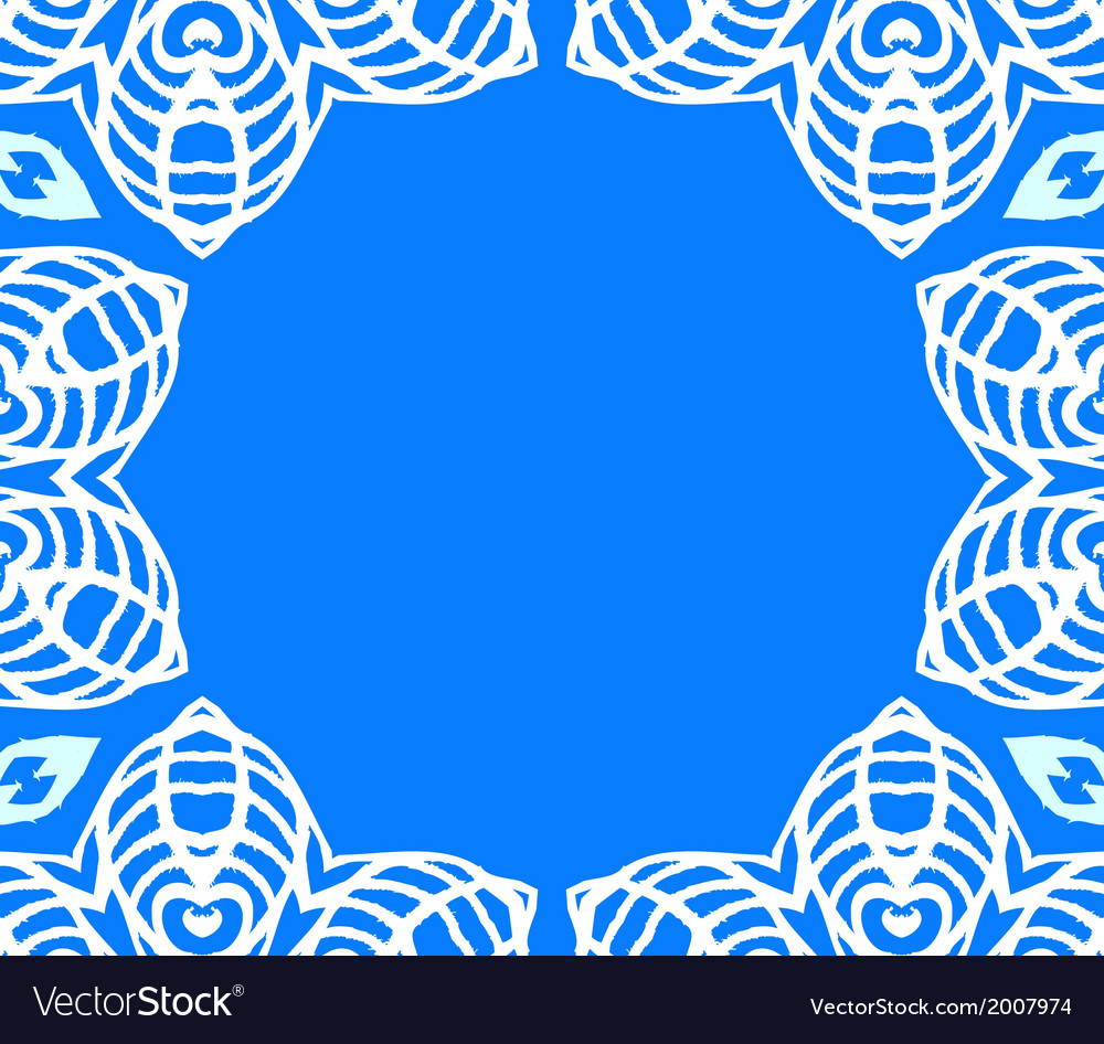 Geometric art deco frame with white lace vector | Price: 1 Credit (USD $1)
