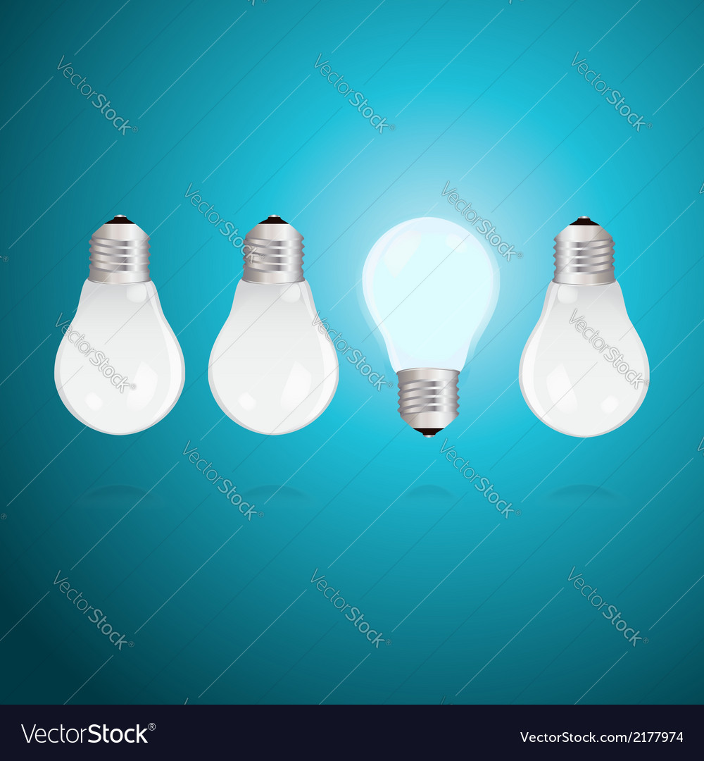 Idea concept with light bulbs vector | Price: 1 Credit (USD $1)