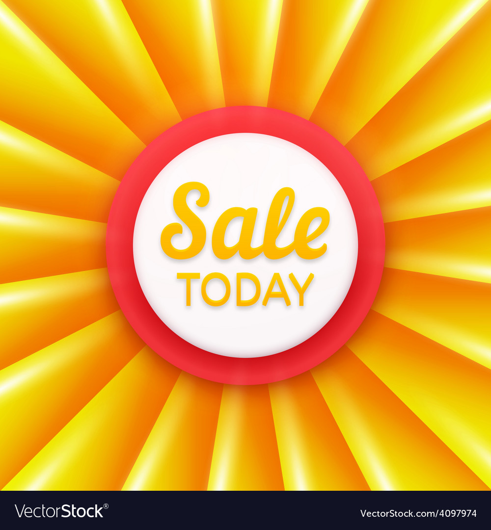 Sale today design template banner vector | Price: 1 Credit (USD $1)
