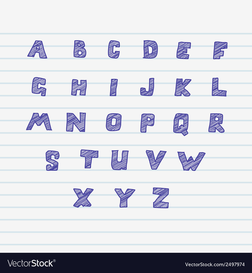Sketchnote alphabet vector | Price: 1 Credit (USD $1)