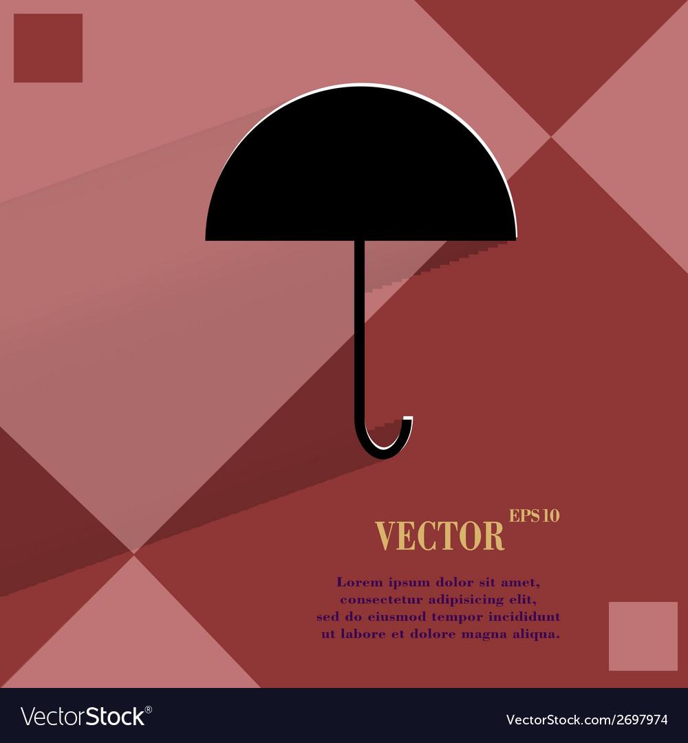 Umbrella flat modern web button on a flat vector | Price: 1 Credit (USD $1)
