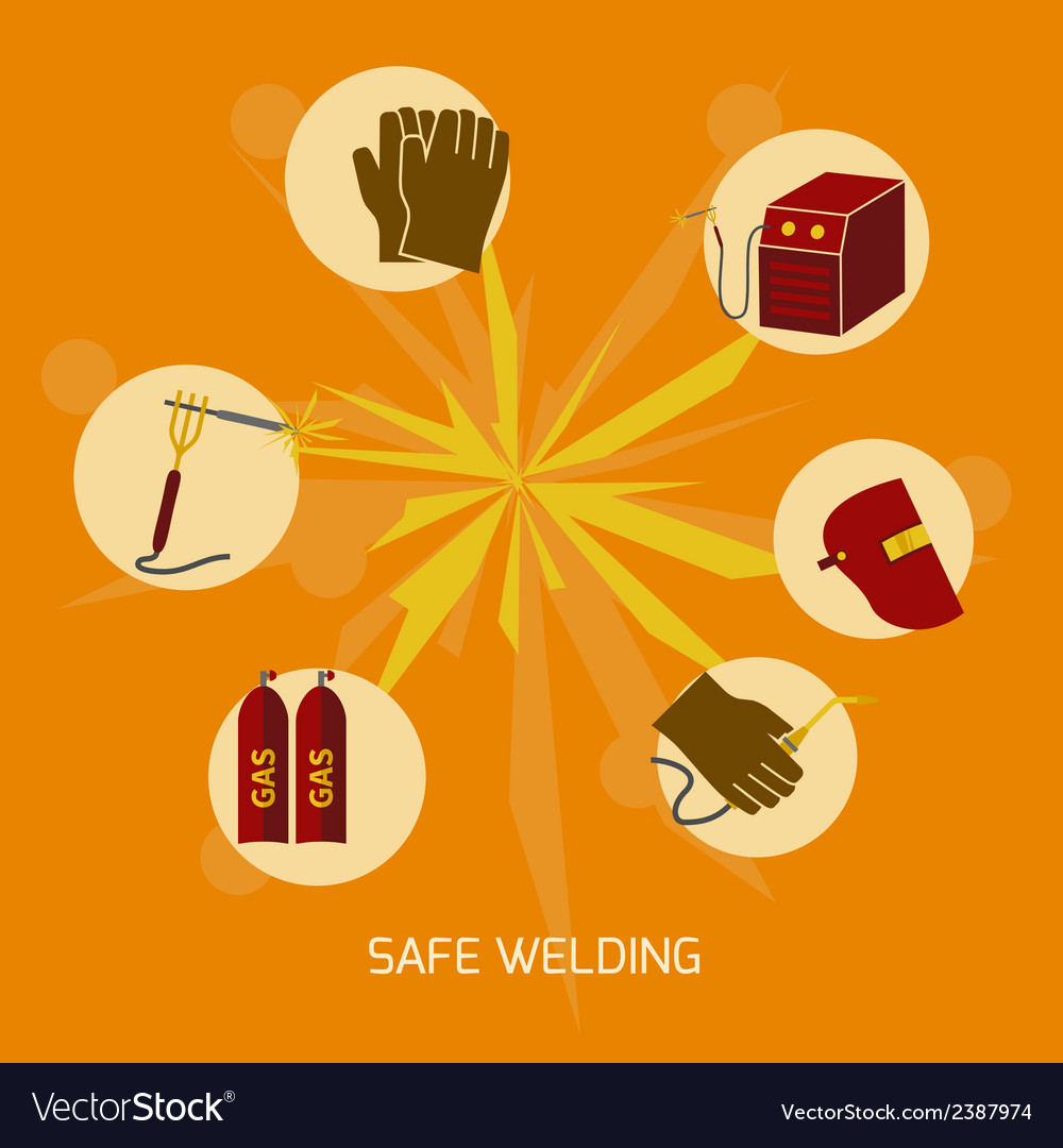 Welder icons flat vector | Price: 1 Credit (USD $1)