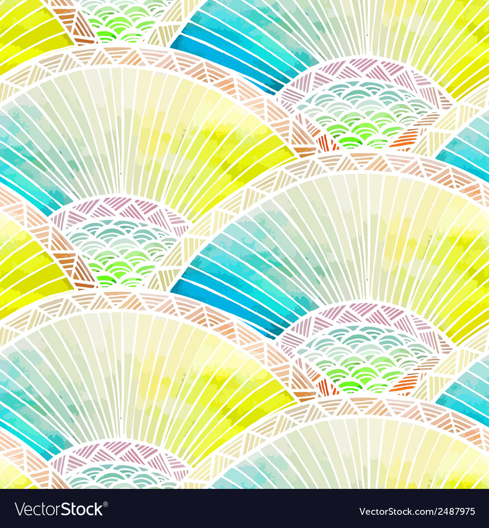 Abstract seamless watercolor pattern converted vector | Price: 1 Credit (USD $1)