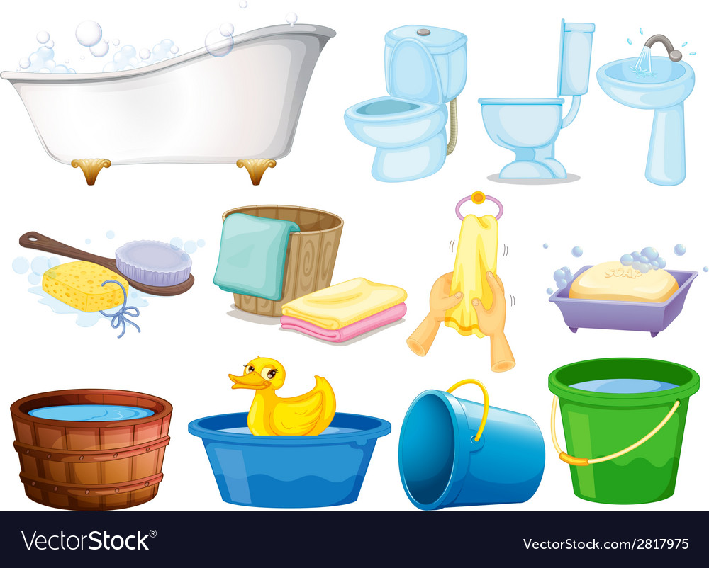 Bath set vector | Price: 1 Credit (USD $1)