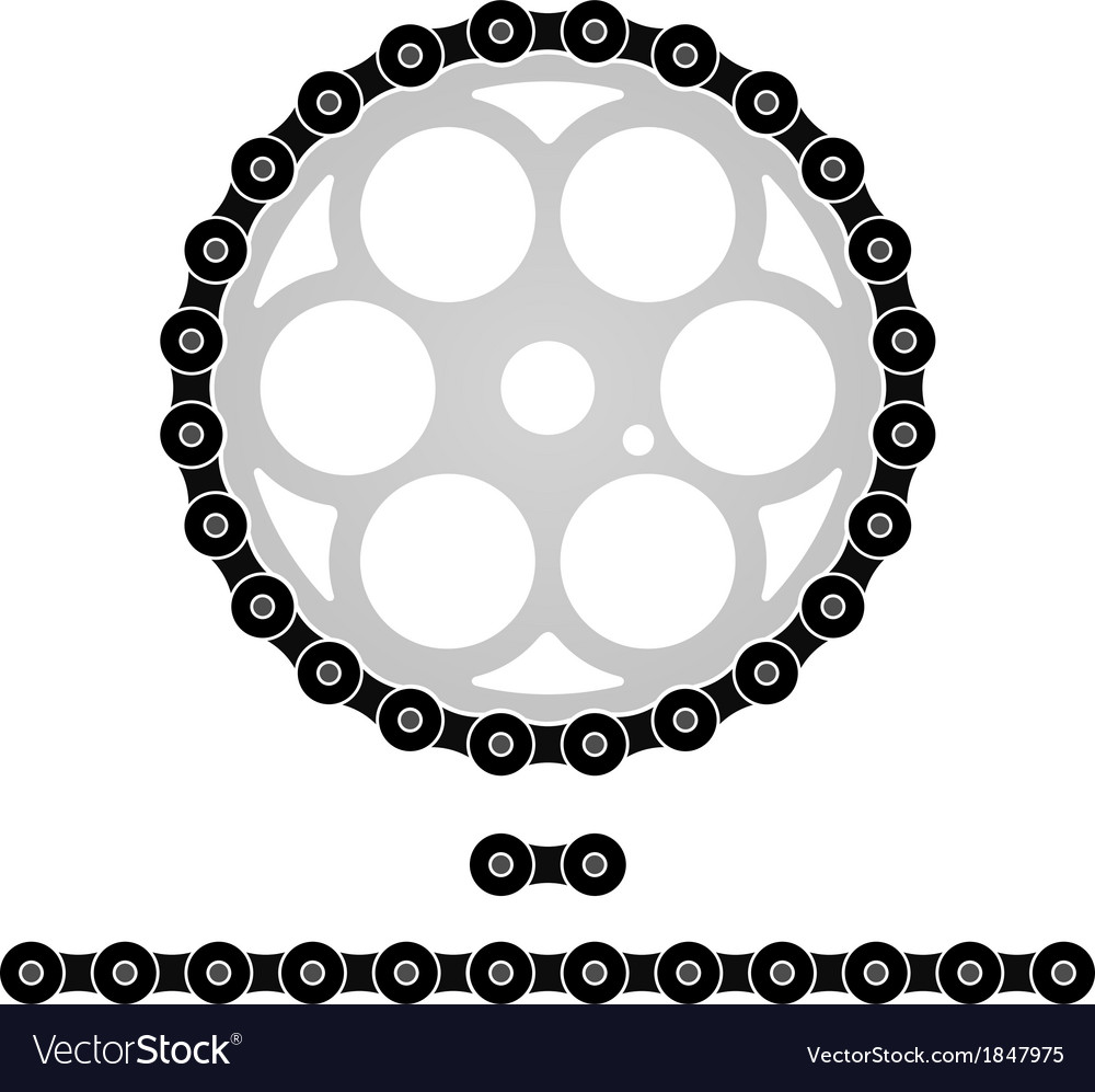 Bicycle chain vector | Price: 1 Credit (USD $1)
