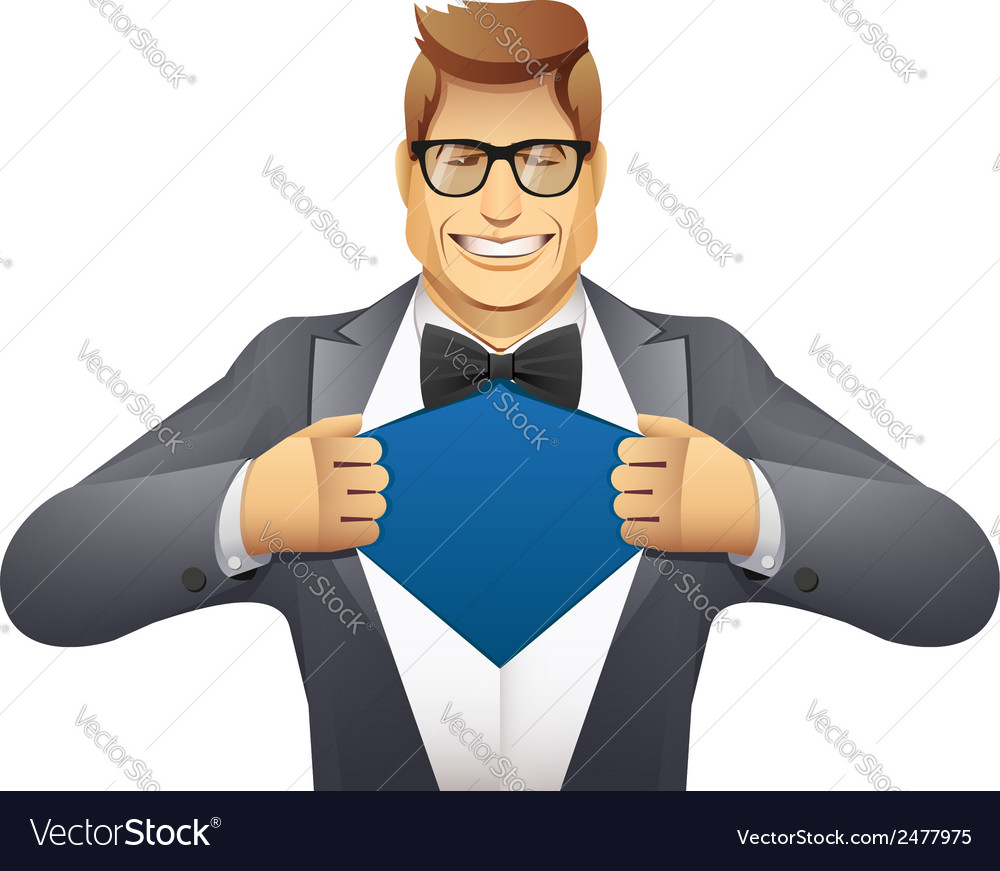 Businessman superman vector | Price: 1 Credit (USD $1)