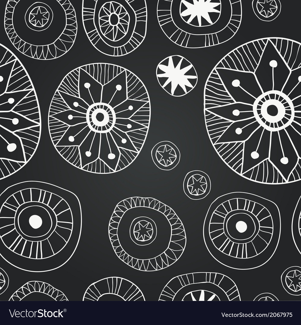 Chalkboard seamless floral pattern vector | Price: 1 Credit (USD $1)
