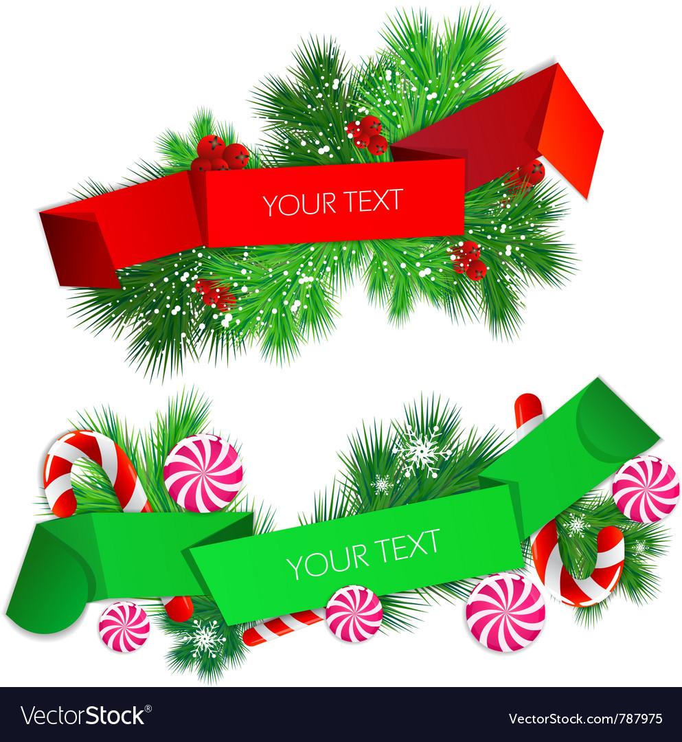 Christmas banner set vector | Price: 1 Credit (USD $1)