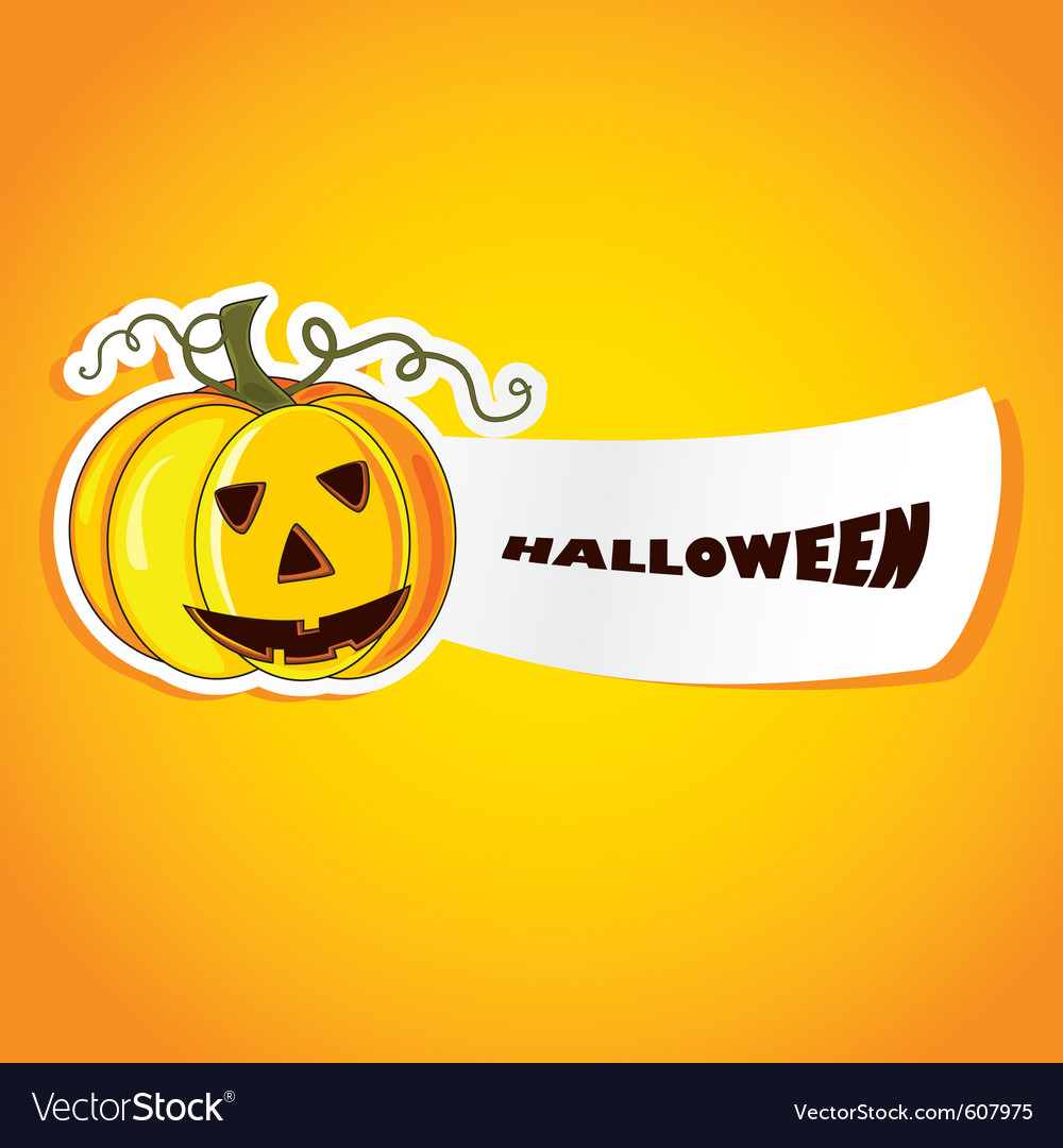 Halloween with pumpkin vector | Price: 1 Credit (USD $1)