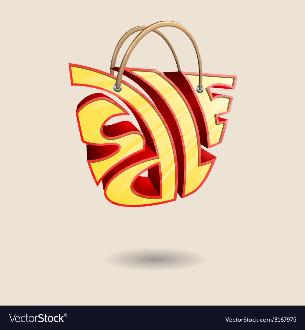 Sale bag vector | Price: 1 Credit (USD $1)