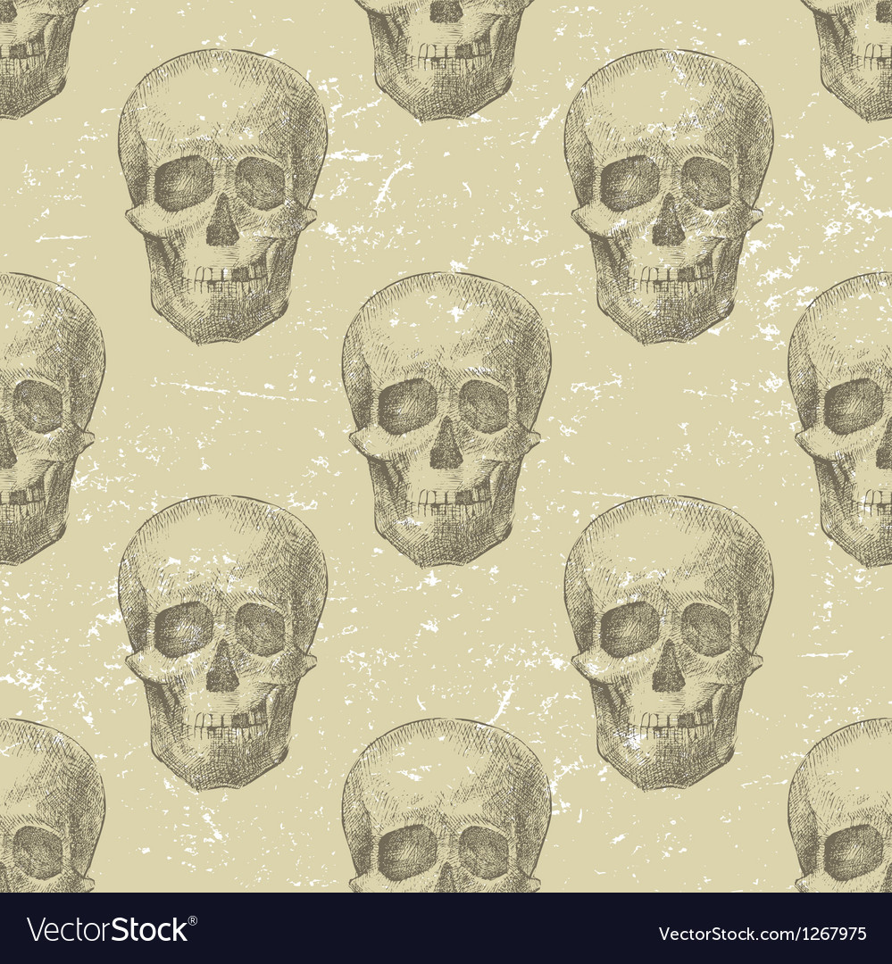 Skull seamless vector | Price: 1 Credit (USD $1)