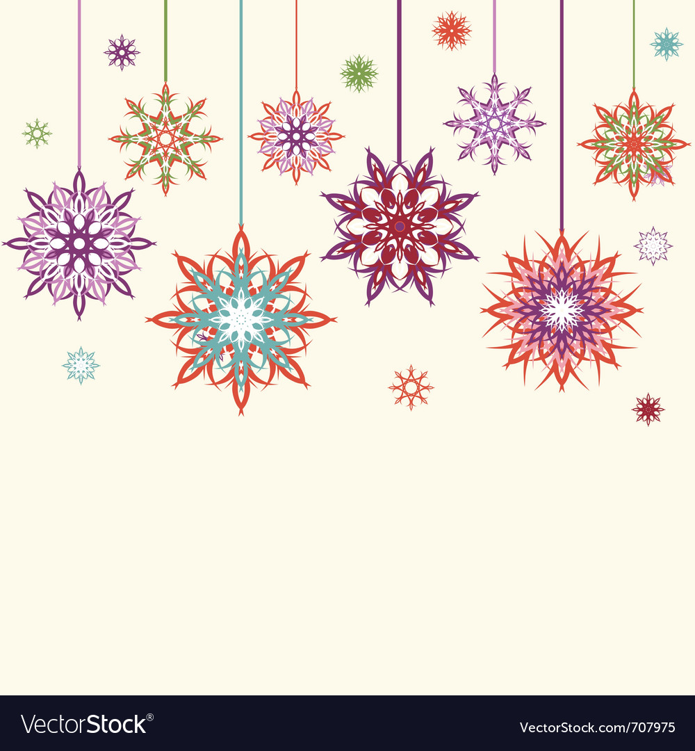 Snowflake flowers vector | Price: 1 Credit (USD $1)