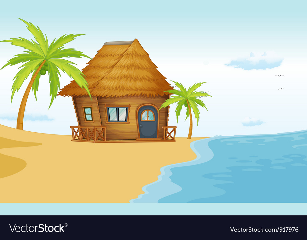 Beach bungalow vector | Price: 3 Credit (USD $3)