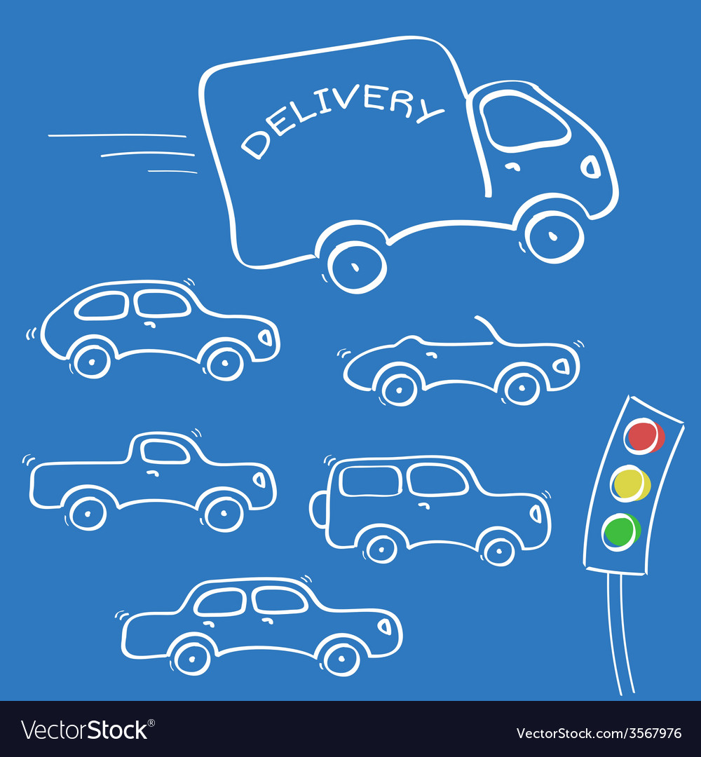 Cars sketches vector | Price: 1 Credit (USD $1)