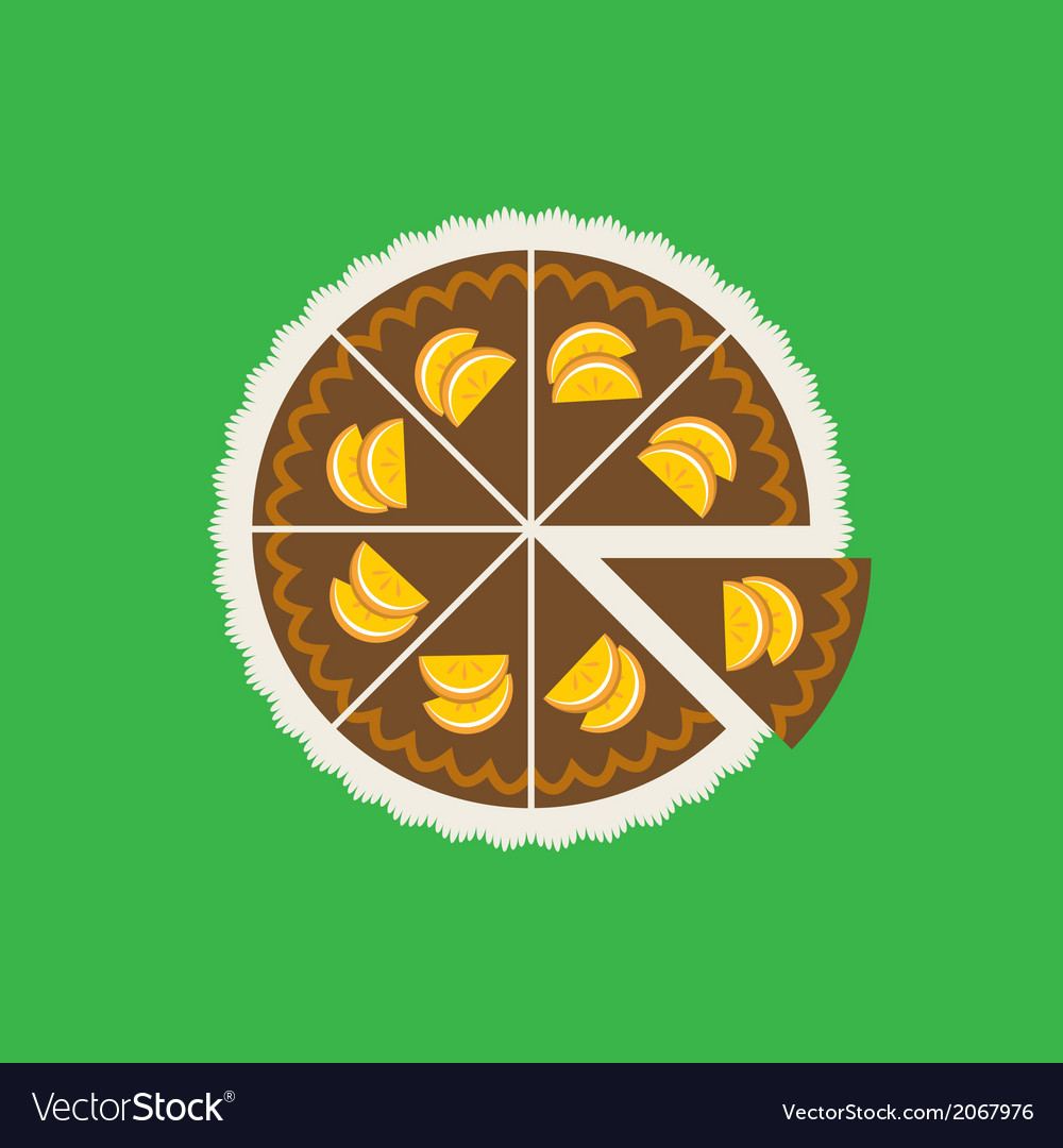 Chocolate orange cake vector | Price: 1 Credit (USD $1)