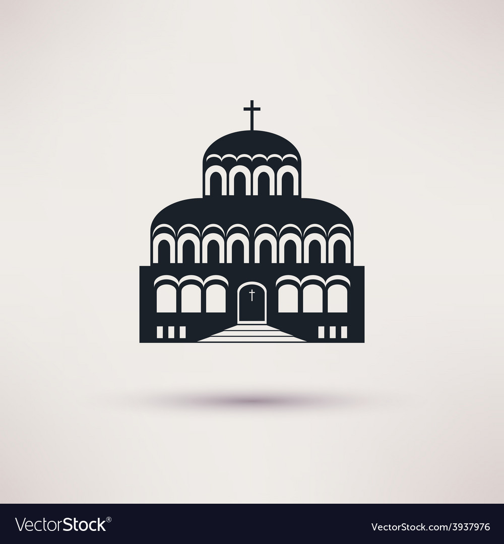 Church building a religious symbol icon vector | Price: 1 Credit (USD $1)