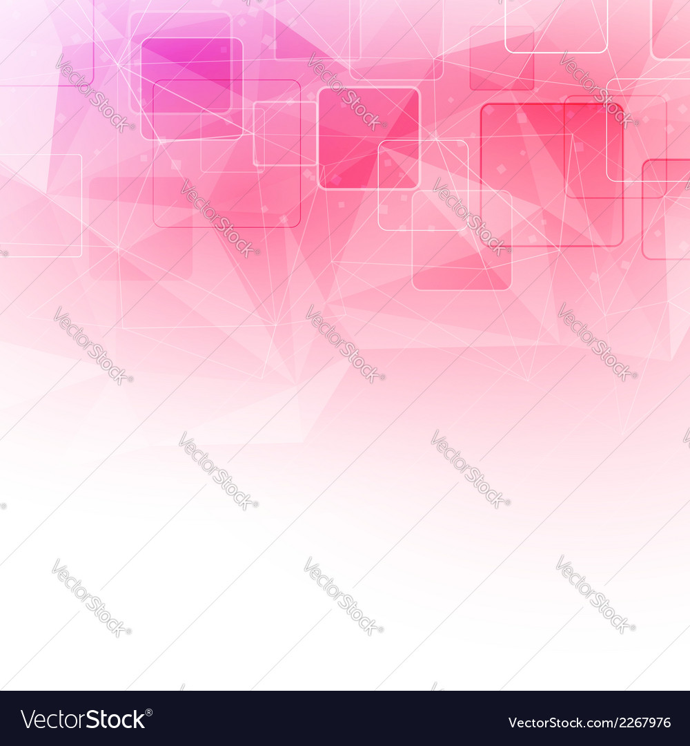 Crystal structure abstract square background vector | Price: 1 Credit (USD $1)