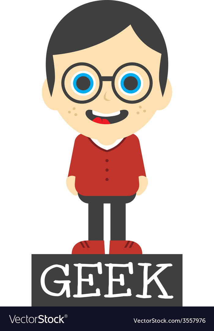 Geek boy cartoon vector | Price: 1 Credit (USD $1)