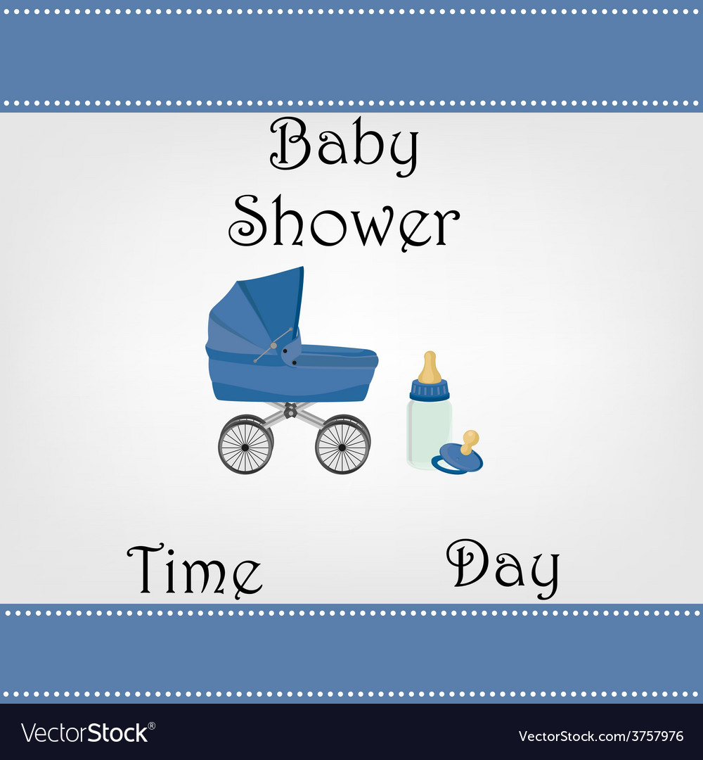 Postcard baby shower for baby boy vector | Price: 1 Credit (USD $1)