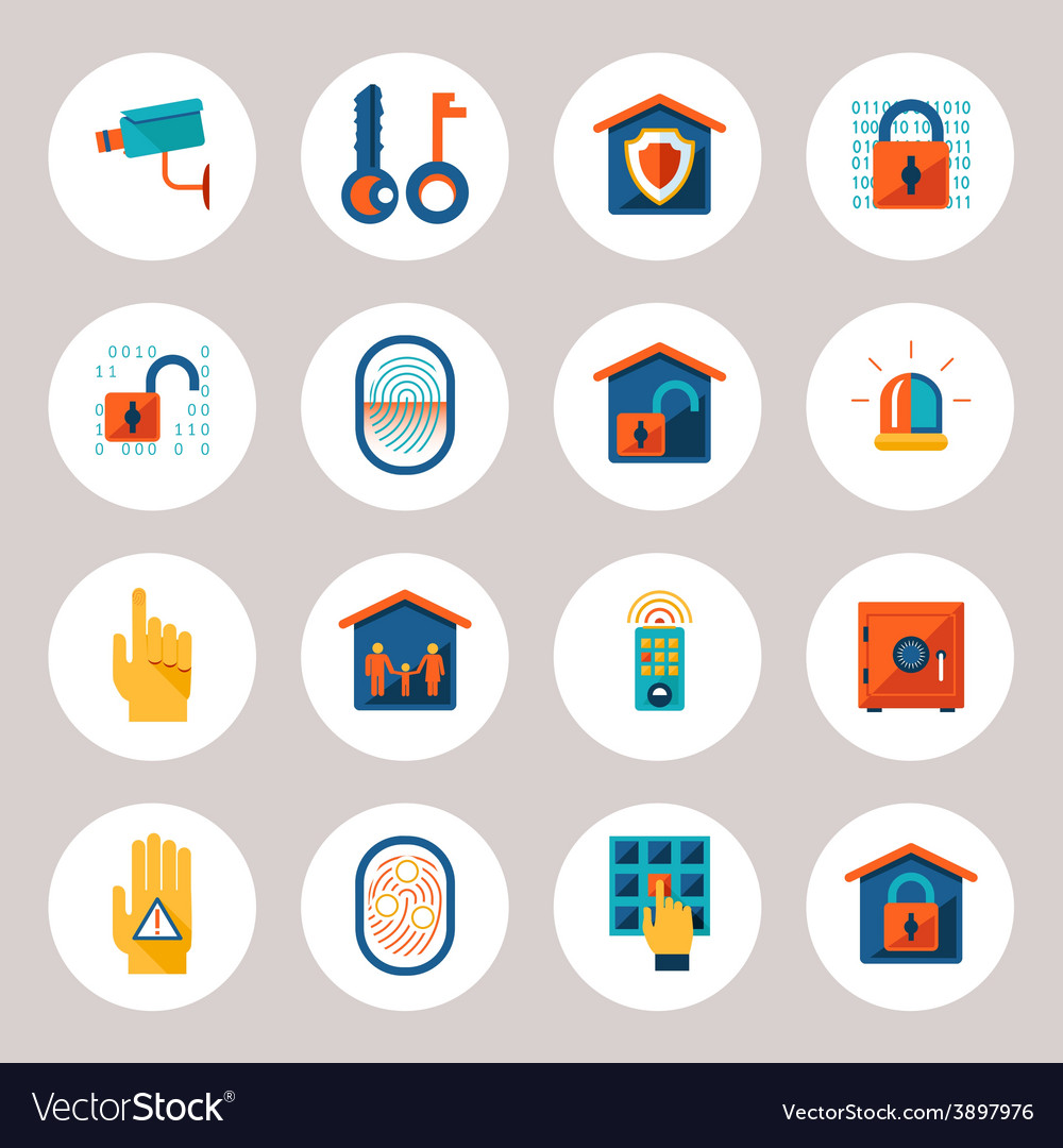 Real estate protection icons vector | Price: 1 Credit (USD $1)