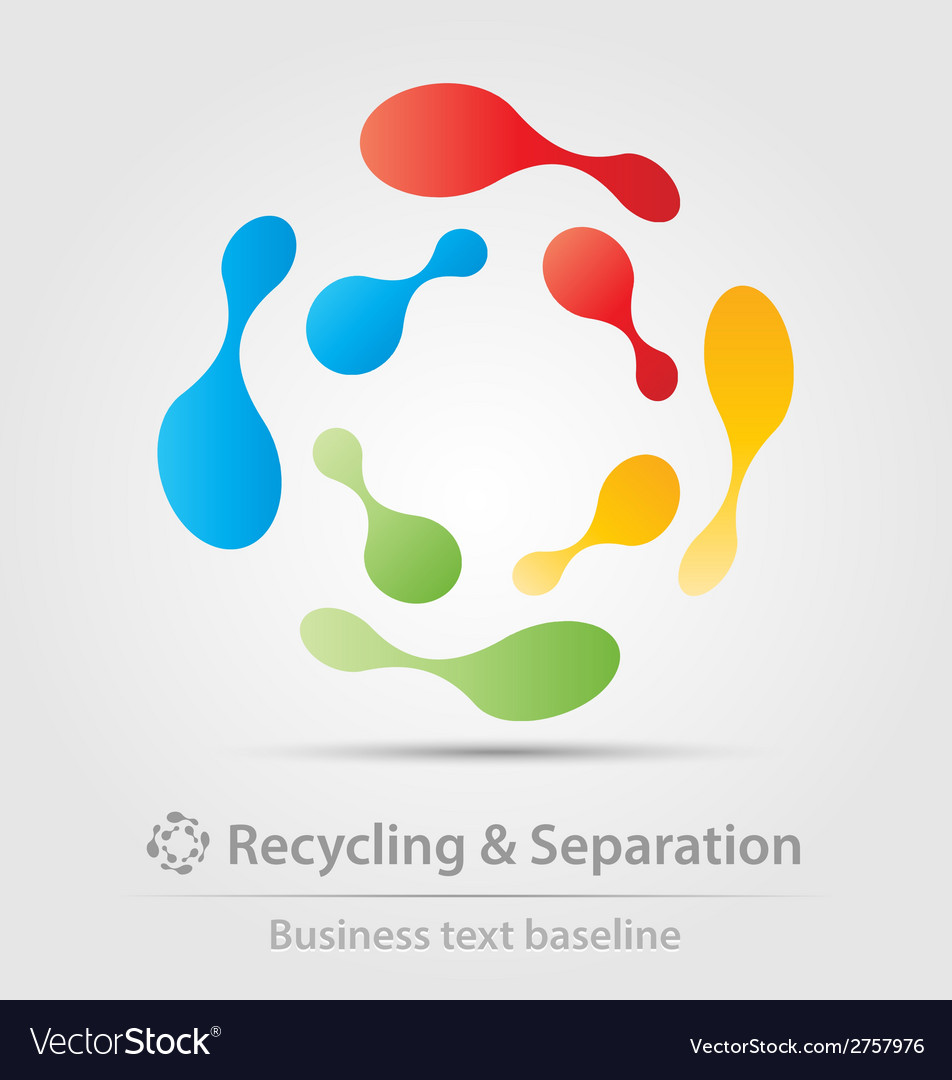 Recycling and separation business icon vector | Price: 1 Credit (USD $1)