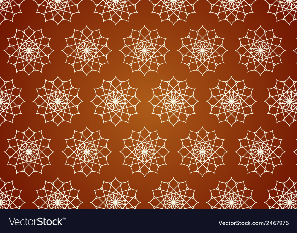 Retro line art and flower pattern on pastel color vector | Price: 1 Credit (USD $1)